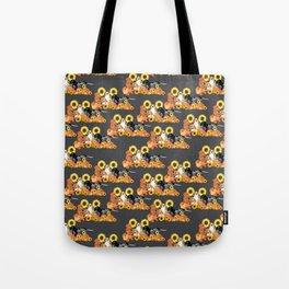 Coonhound Autumn Harvest Grey Tote Bag