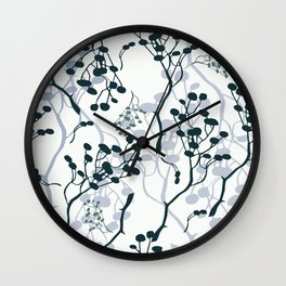 twigs with berries Wall Clock