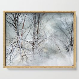 Trees, Ice and Snow Serving Tray