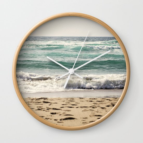 Walking In The Sand Wall Clock