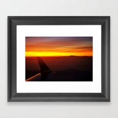 Sunset at 30,000 Feet Framed Art Print