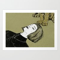 monsters Art Prints featuring Monsters by Lola Beltrán