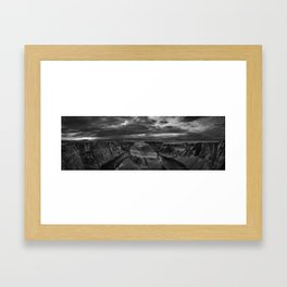 Horseshoe_HDR_Panorama_BW Framed Art Print