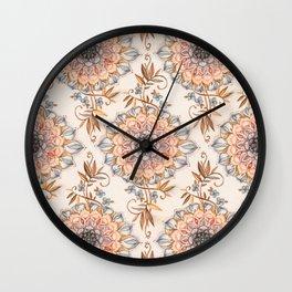 Autumn Browns Boho Mandala Wall Clock