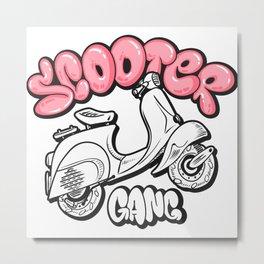 Scooter gang Metal Print