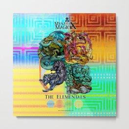 Mysticx & Magick: The Japanese Elemental Gods - Art Cover Metal Print