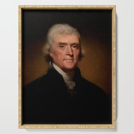 Official Presidential portrait of Thomas Jefferson Serving Tray