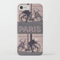 1984 iPhone & iPod Cases featuring PARIS BIKE 1984 by Bruce Stanfield