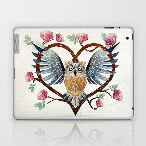 lovely owl Laptop & iPad Skin