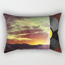 American Sunset As Vintage Album Art Rectangular Pillow