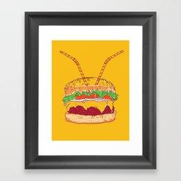 Burger for two Framed Art Print
