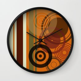 Retro Color 01 Wall Clock