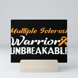 Multiple Sclerosis Disease Awareness Warrior Mini Art Print