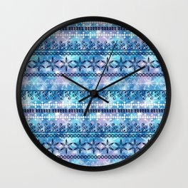 Christmas ornament. Blue, white pattern on a blue background. Wall Clock