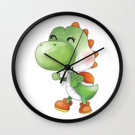 Green Dinosaur Plumber's Collection Wall Clock
