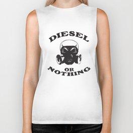 Diesel or Nothing Truck 4X4 Power Fuel Gas Mask Black Biker Tank
