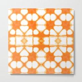 Shibori Ahi Tangerine Metal Print
