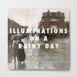 Reckless Rain Metal Print
