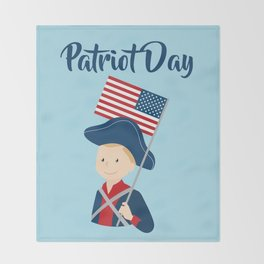 US flag held high for those who died - Patriot Day - September 11 Throw Blanket