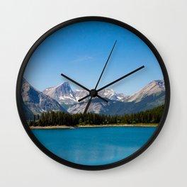 a lot of blue Wall Clock