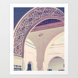 Bahia Palace Moroccan Arches Fine Art Print Art Print