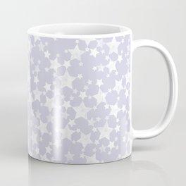 Block Printed Dusty Purple and White Stars Coffee Mug