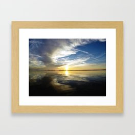 California Sunset - Encinitas, CA Framed Art Print