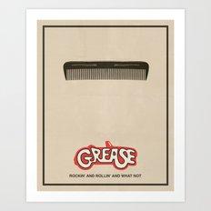 Grease - Minimalist Movie Poster Art Print