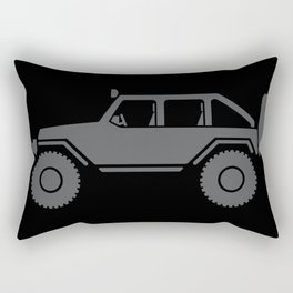 Off Road 4x4 Silhouette Rectangular Pillow
