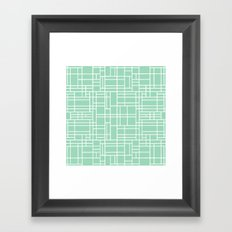 Map Outline Mint Framed Art Print