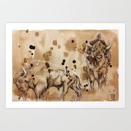 """""""What did the buffalo say to his son as he left for college"""" Art Print"""