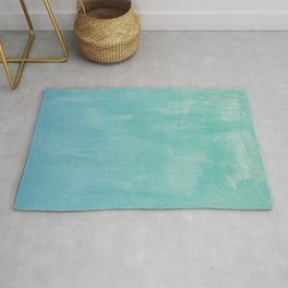 Blue Green Patina Paint Grunge Texture Wall Shabby Chic Vintage Marbled Mexico Abstract Rug