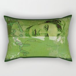 Frida Kahlo - between worlds - green Rectangular Pillow