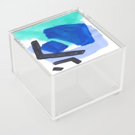 Ocean Torrent Whirlpool Teal Turquoise Blue Acrylic Box