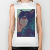 maleficent Biker Tanks featuring Maleficent by JAPdesign