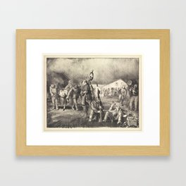 Bacchanale from War Series, First State by George Bellows (1882–1925) Framed Art Print