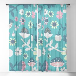 Sweet woodland pattern Sheer Curtain