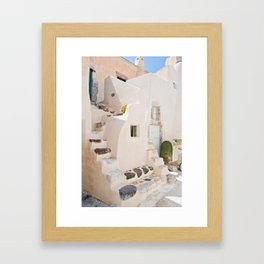 Home in Santorini Framed Art Print