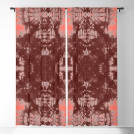 Living Coral Shibori Tye Dye Blackout Curtain
