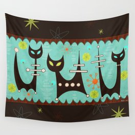 Atomic Cats Wall Tapestry