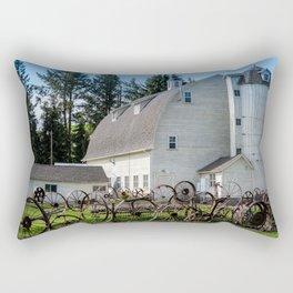 Historic Uniontown Washington Dairy Barn Rectangular Pillow