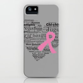 Breast Cancer Support 'em all iPhone Case