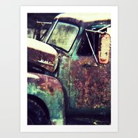 truck Art Prints featuring truck by toria