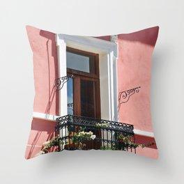 Balconies of Puebla  Throw Pillow