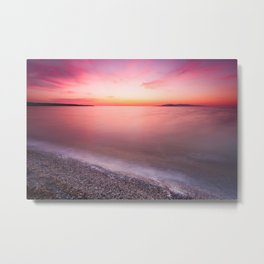 Long Exposure Sunset at the Great Salt Lake Metal Print
