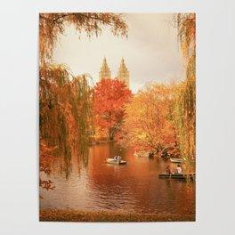 Central Park New York City Autumn Poster