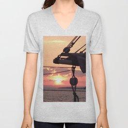 Sunset Sail Unisex V-Neck