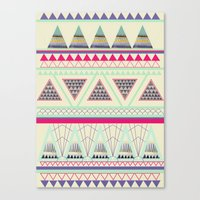 aztec Canvas Prints featuring Aztec by ALT + CO