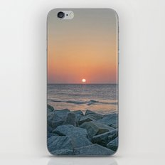 Sunrise at the Battery Seawall Fort Fisher NC iPhone & iPod Skin