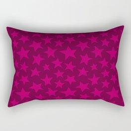 Raspberry Doodle Stars Rectangular Pillow
